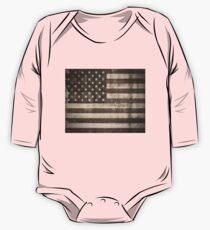 Vintage American Flag One Piece - Long Sleeve