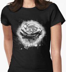 Vintage Black and White Rose Fine Art T-Shirt