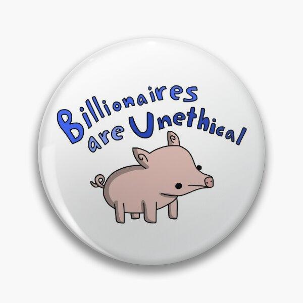 Anti-Billionaire Pig - Tiny Snek Comics Pin