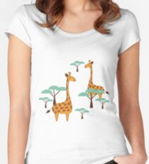 Giraffes Women's Fitted Scoop T-Shirt