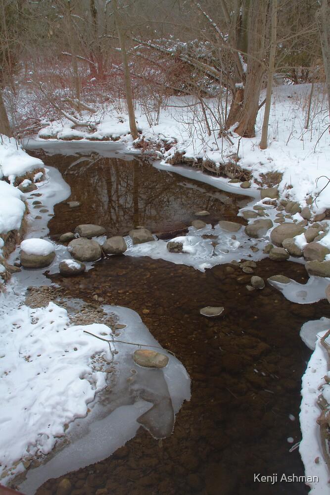 Winter stream by Kenji Ashman