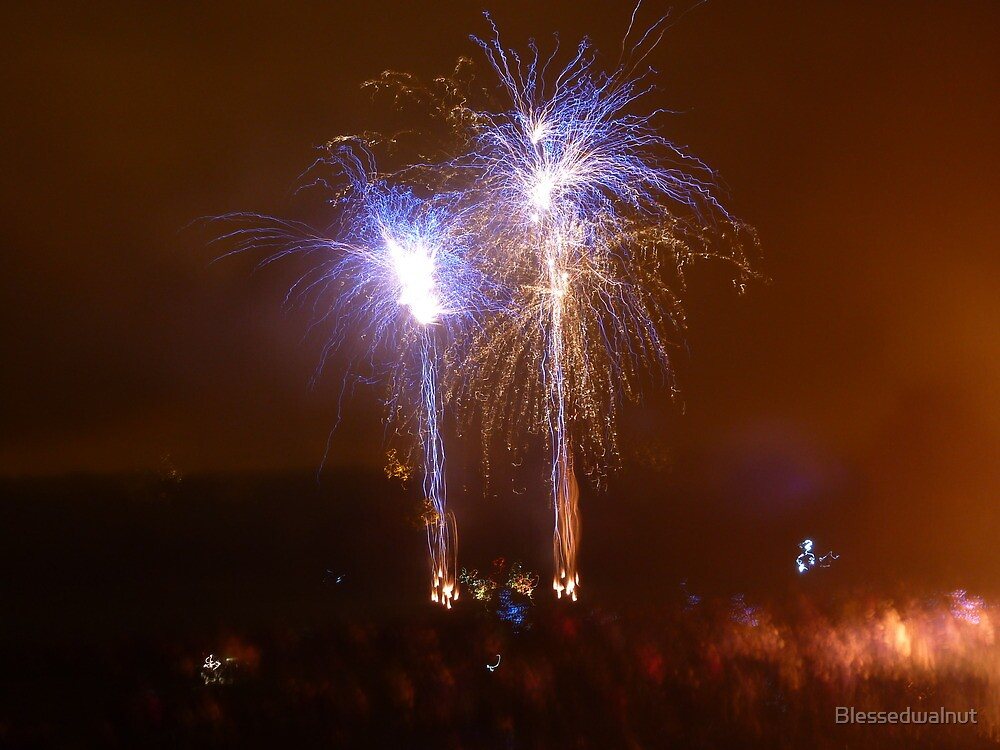 Twinned Fireworks by Blessedwalnut