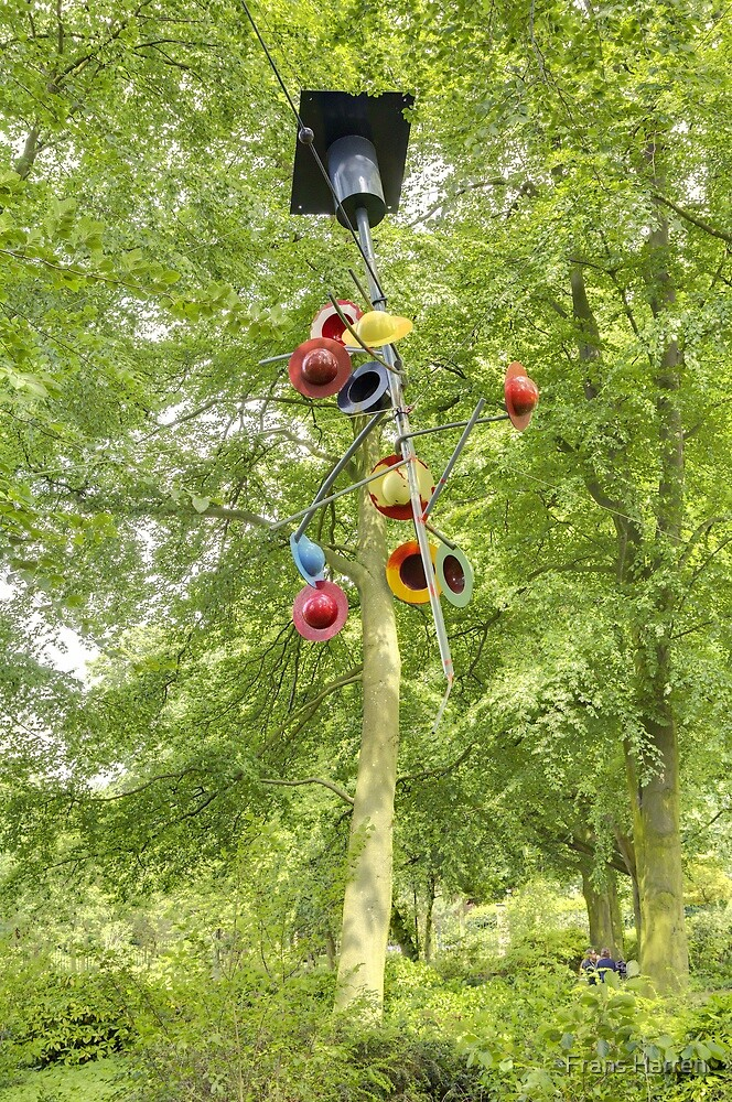 Untitled art floating among the trees by Frans Harren