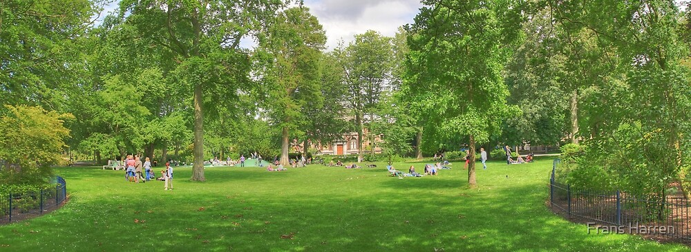 Panorama of a sunny saturday afternoon by Frans Harren