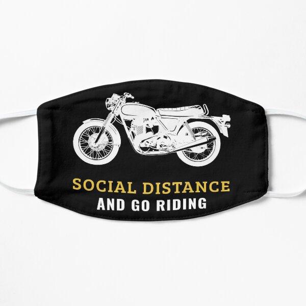 Conception d'équitation sociale Distance & Go   Graphique de motard moto motard Masque sans plis