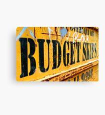 Budget Skips Canvas Print