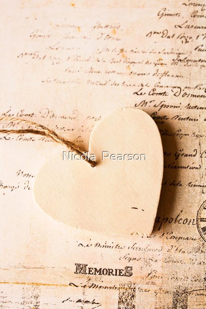 Vintage Heart  by Nicola  Pearson