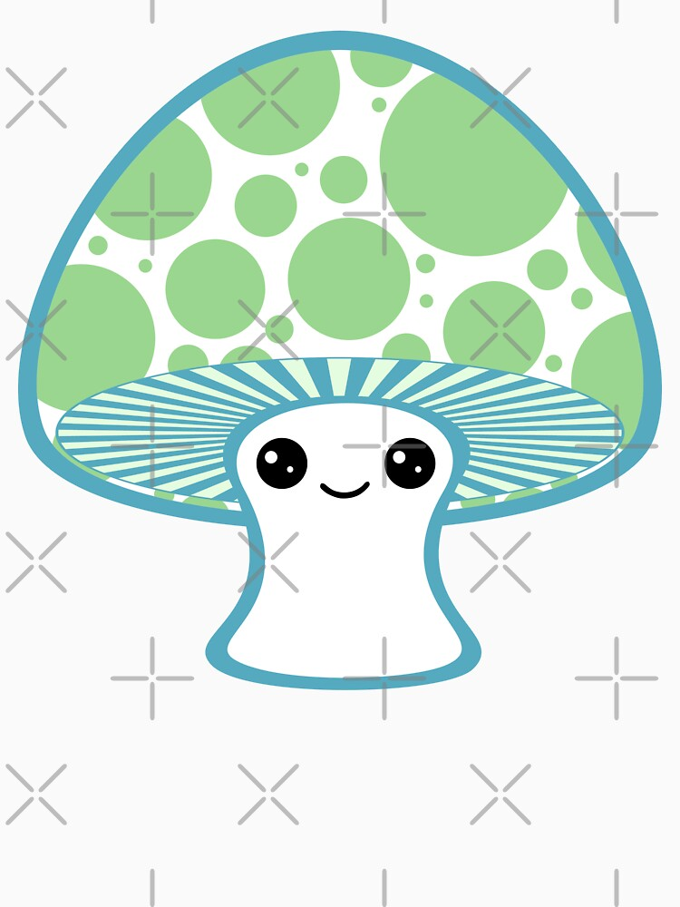 Green Polka Dotted Mushroom | Women's T-Shirt