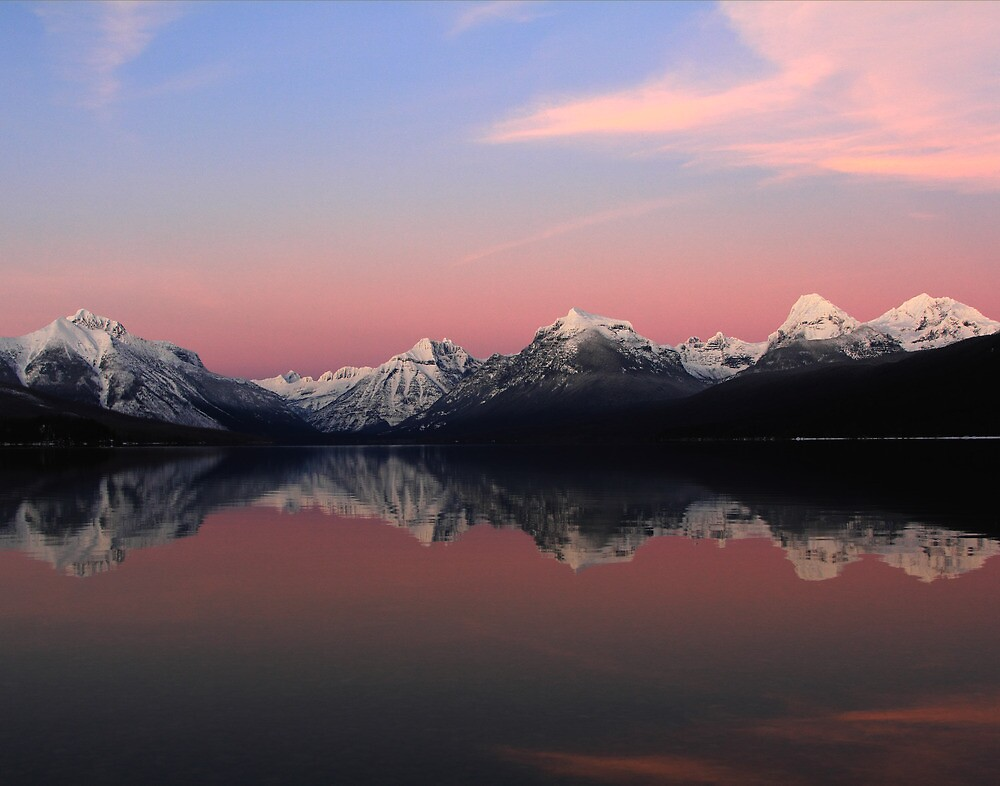 Evening at Lake McDonald by Rick Huntsman