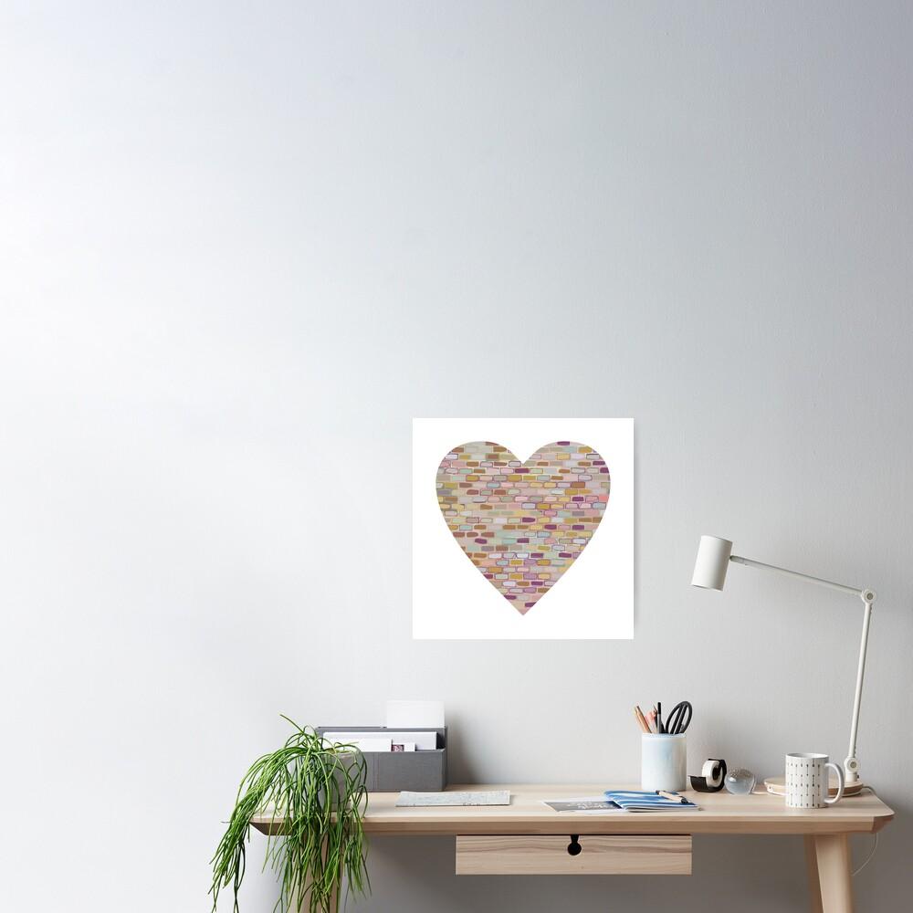Stone Wall Heart (Digital Art) Poster