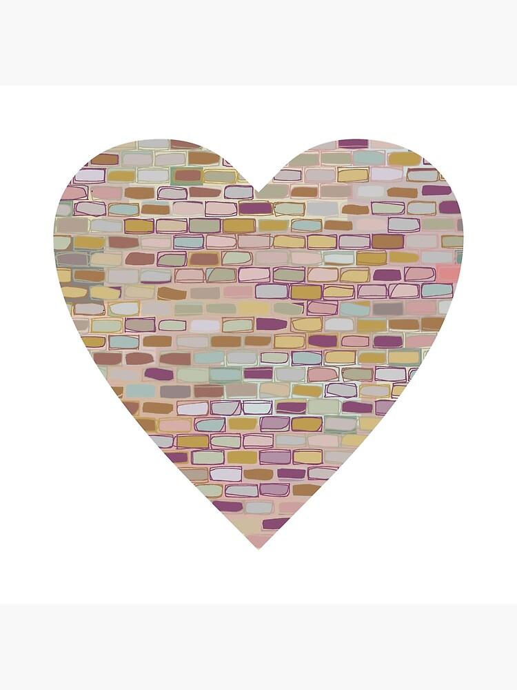 Stone Wall Heart (Digital Art) by gwennpaints