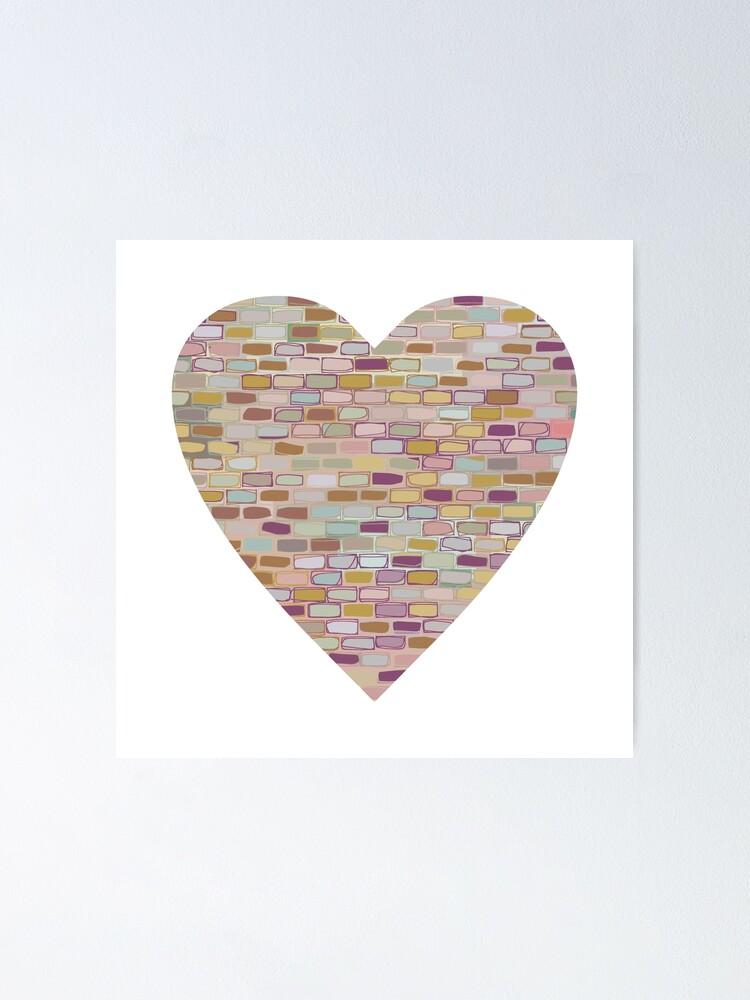 Alternate view of Stone Wall Heart (Digital Art) Poster