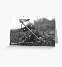 The Smaller Flag of Iwo Jima Greeting Card