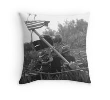The Smaller Flag of Iwo Jima Throw Pillow