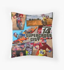 Supercross Throw Pillow