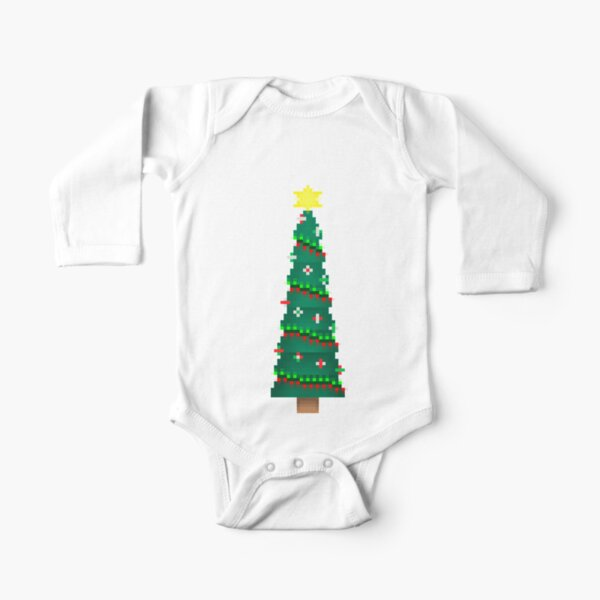 Oh What Fun Christmas Wreath and Tree Santa Hat Baby Bodysuit Baby Shirt