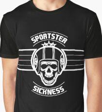 Sportster Sickness Plain Black Graphic T-Shirt