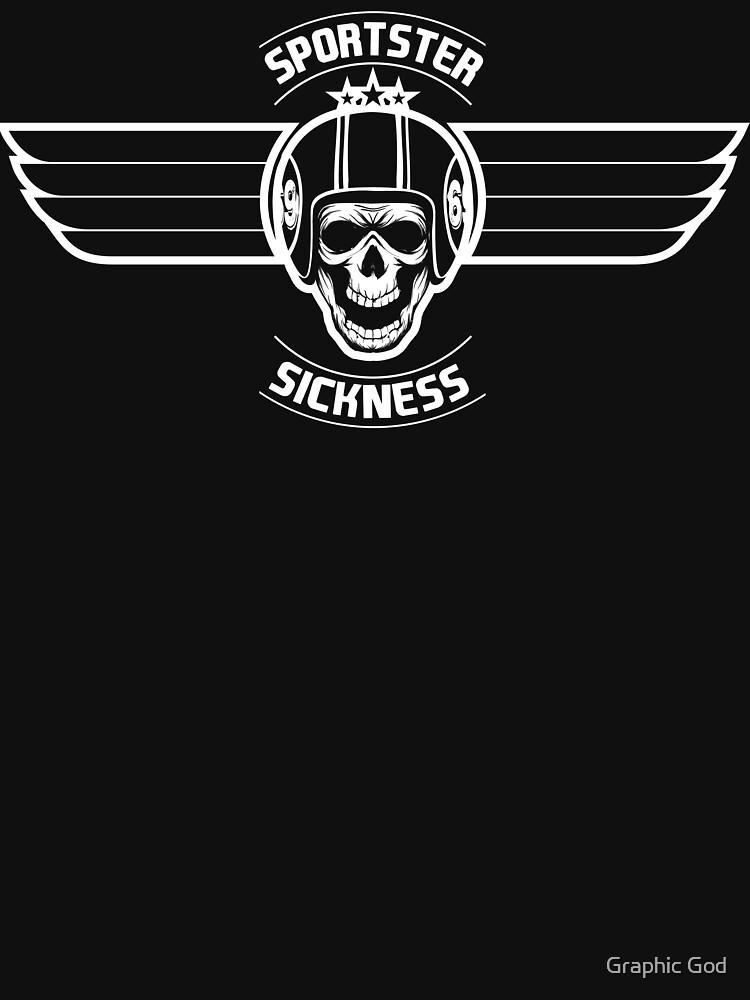 Sportster Sickness Plain Black   Unisex T-Shirt
