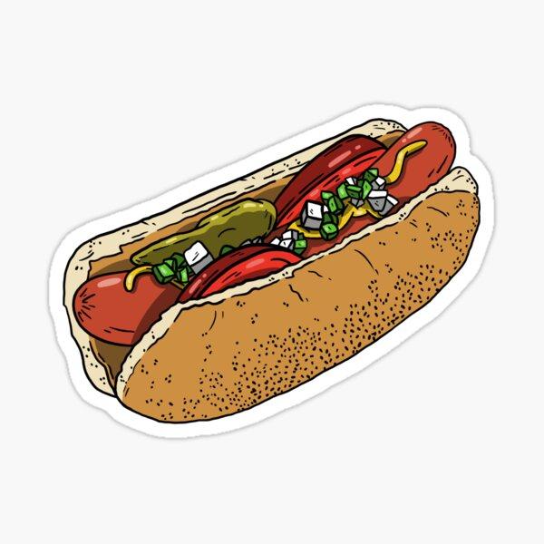 Chicago Dog is my Co-Pilot Sticker