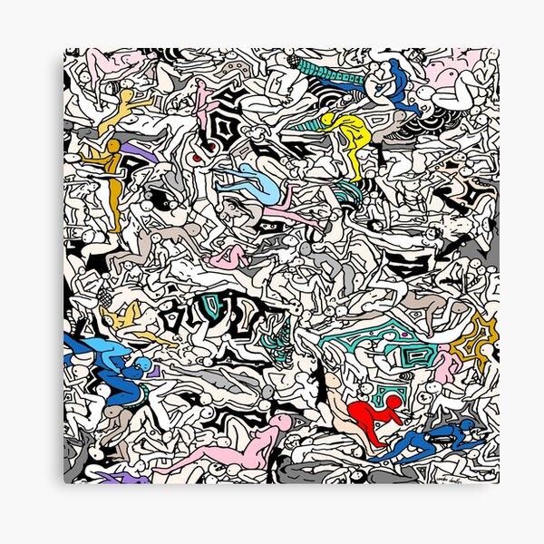 Kamasutra LOVE Doodle Canvas Print