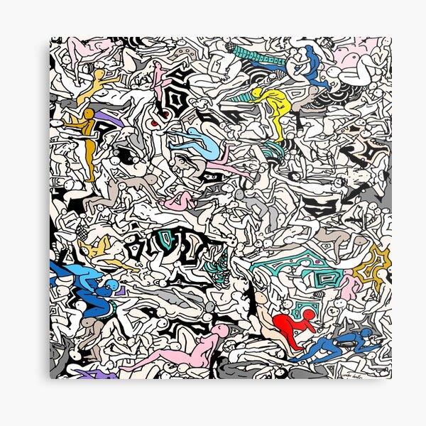 Kamasutra LOVE Doodle Metal Print