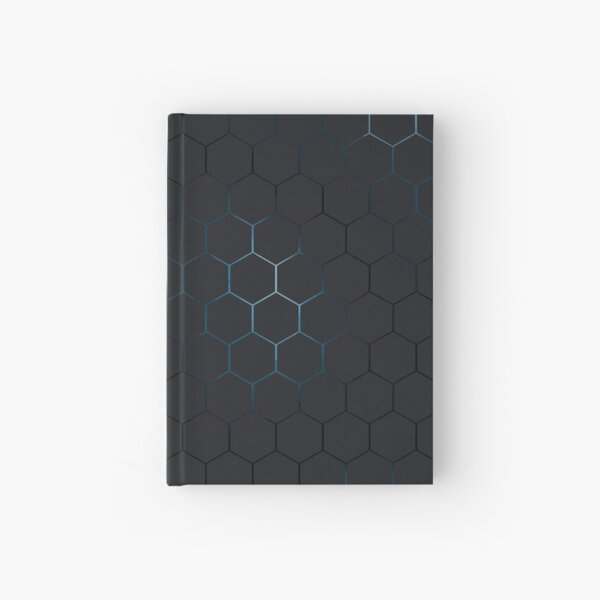 Futuristic honeycomb  Hardcover Journal