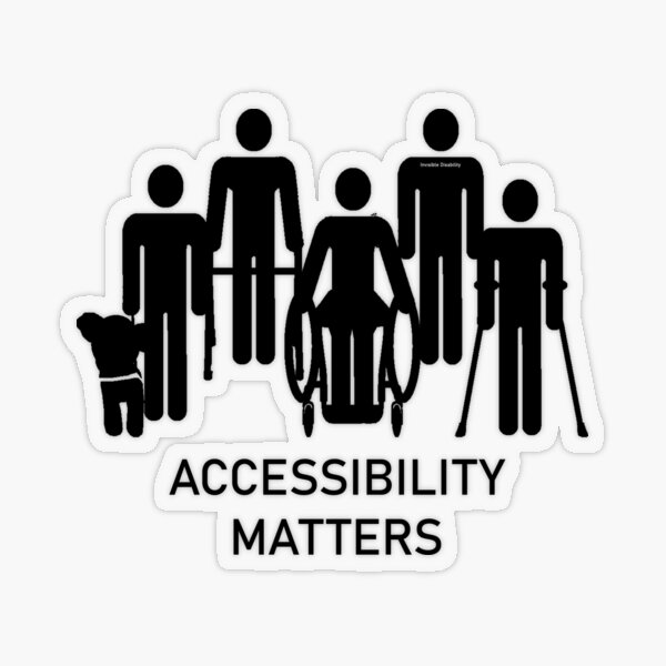 Accessibility Matters (black color) Transparent Sticker