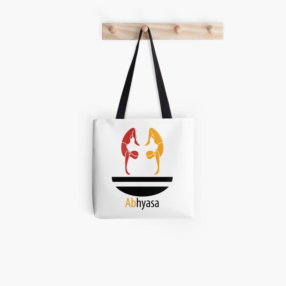 Abhyasa effort practice yoga consistence Tote Bag