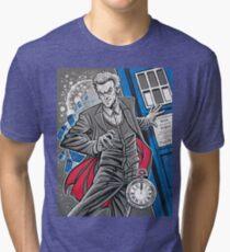 """The Twelfth Doctor (""""All Thirteen!"""") Tri-blend T-Shirt"""