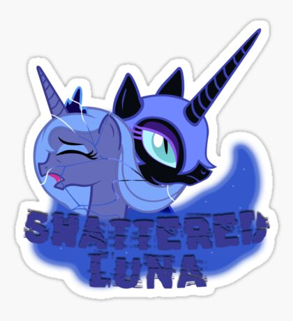 Shattered Luna Sticker