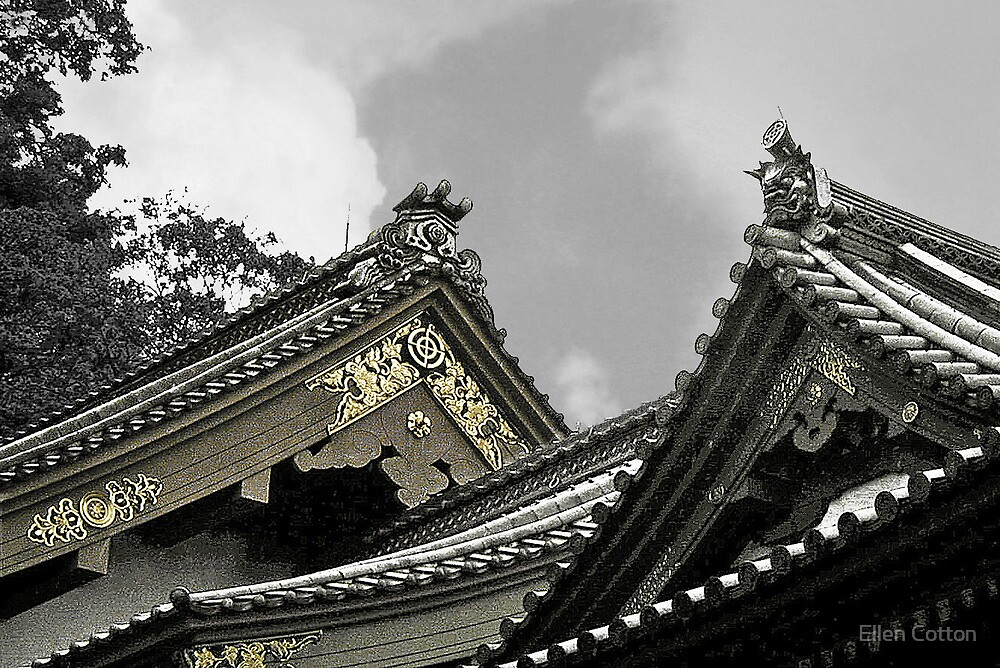 Old Japanese Rooftops by Ellen Cotton