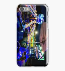 Luna park spinning tower carts (H) iPhone Case/Skin