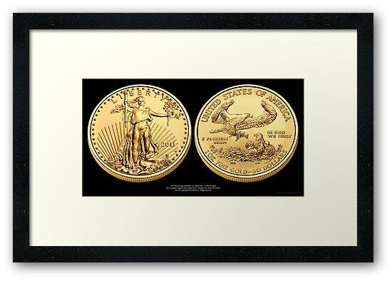 2011 Gold Eagle Print by Jeff Pierson
