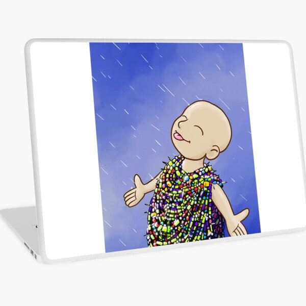 Beads of courage in the rain Laptop Skin