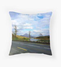 Leaving Mount Errigal Throw Pillow