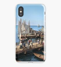 Pier at the inlet, Atlantic City, N.J. year 1904 iPhone Case/Skin