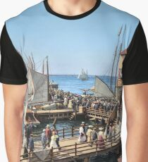 Pier at the inlet, Atlantic City, N.J. year 1904 Graphic T-Shirt