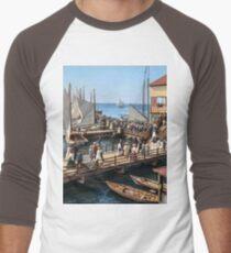 Pier at the inlet, Atlantic City, N.J. year 1904 Baseball ¾ Sleeve T-Shirt