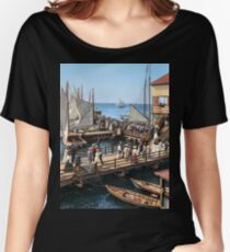 Pier at the inlet, Atlantic City, N.J. year 1904 Women's Relaxed Fit T-Shirt