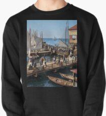 Pier at the inlet, Atlantic City, N.J. year 1904 Pullover Sweatshirt