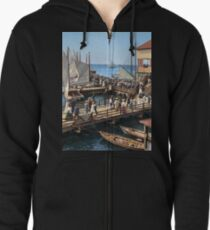 Pier at the inlet, Atlantic City, N.J. year 1904 Zipped Hoodie