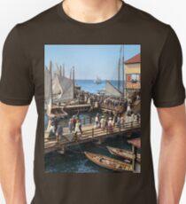Pier at the inlet, Atlantic City, N.J. year 1904 Slim Fit T-Shirt