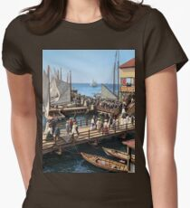 Pier at the inlet, Atlantic City, N.J. year 1904 Fitted T-Shirt