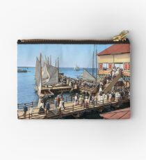 Pier at the inlet, Atlantic City, N.J. year 1904 Studio Pouch