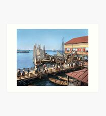 Pier at the inlet, Atlantic City, N.J. year 1904 Art Print