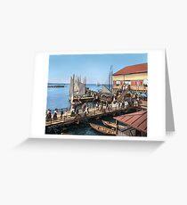 Pier at the inlet, Atlantic City, N.J. year 1904 Greeting Card