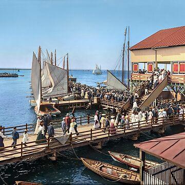 Pier at the inlet, Atlantic City, N.J. year 1904 by SannaDullaway