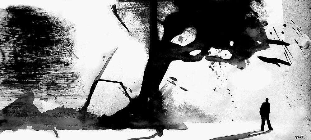 figure in a landscape by Loui  Jover