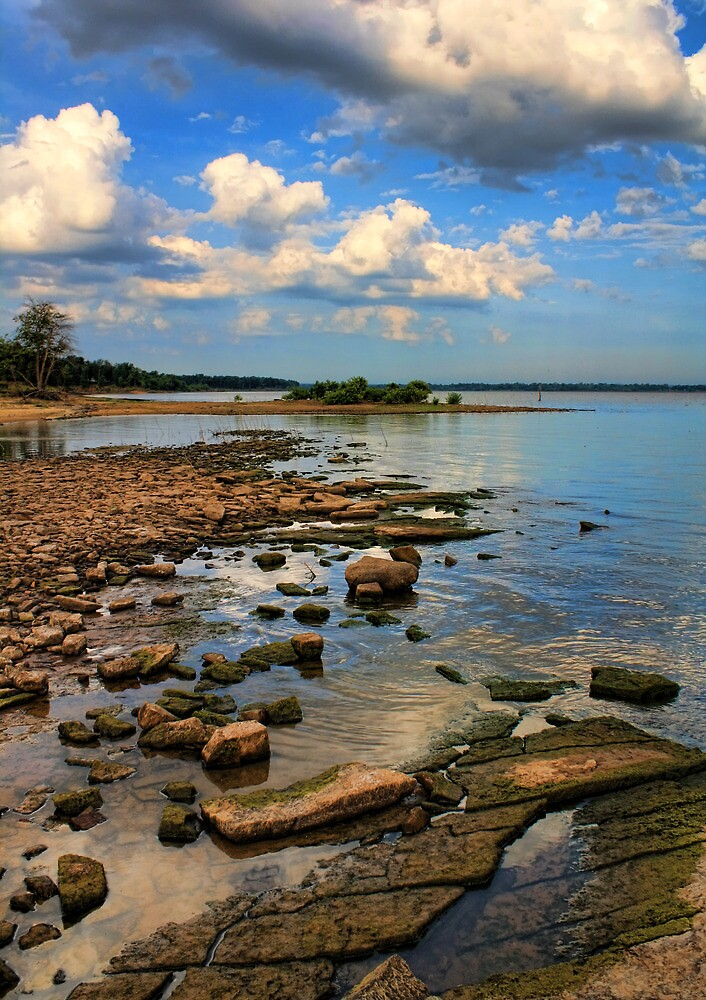 Rocky Shores At Lake Eufaula, Oklahoma by Carolyn  Fletcher