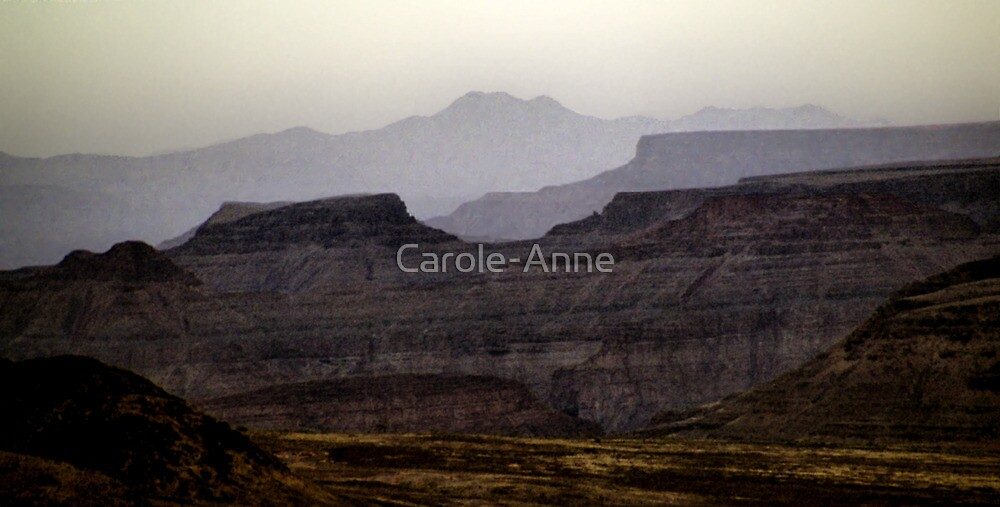 Layered Mountains by Carole-Anne